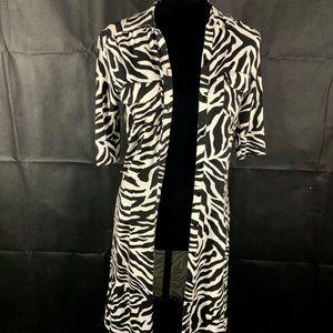 H&M Zebra Print Button Up Dress